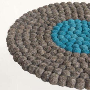 stolehynde i grå og blå design