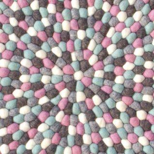 Flot børne tæppe lyserød og blå